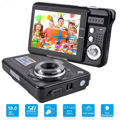 HD Mini Digital Camera with 2.7 Inch TFT LCD Display, Digital Video Camera (Blac