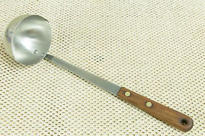 "Vtg 12"" Robinson Stainless Kitchen Serving Gravy Soup LADLE Wood Handle USA"