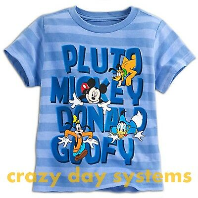 Disney store new mickey mouse friends christmas tee shirt t shirt sz 5 6 boys picclick - Disney store mickey mouse ...