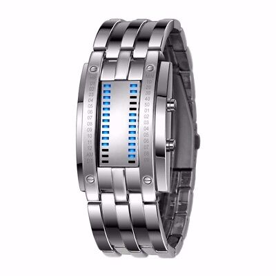 (Sliver) - Sports Smart Wristband Watch, MIGICSHOW Adjustable Steel Band