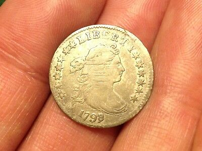 1798/7 Draped Bust Dime  RARE & BEAUTIFUL COIN!!  VERY STRONG DETAIL!  L@@K!!