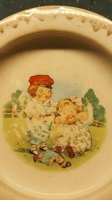 Vintage Wedgwood D.E.McNichol ceramic baby dish campbell kids playing