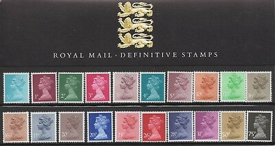 """GREAT BRITAIN 1983 PRESENTATION PACK No.1 (DEFINITIVE) STAMPS  """"MACHIN"""" MNH"""