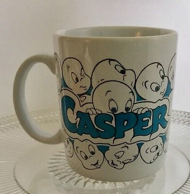 Vintage 1995 Dakin Casper Coffee Mug Tea Friendly Ghost Blue White