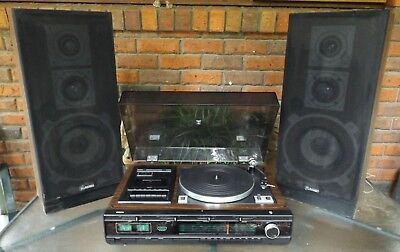 Philips Record Player/radio/cassette Player, 3 In One With Speakers In Vgc
