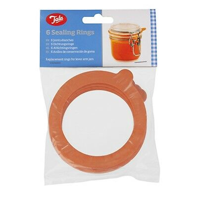 NEW Tala Set of 6 Preserving Rubber Rings for Airtight Sealing