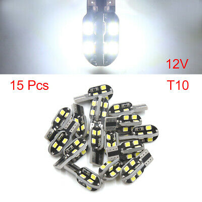 15PCS 12V White T10 LED Car Dashboard Reading Light Interior for BMW X5 New