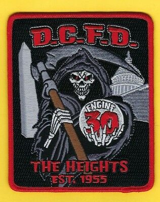"""Dcfd Engine 30 Company Patch ~ Washington D.c. Fire Dept ~ """"The Heights"""""""