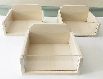 15 x Wooden Counter Display Boxes w. Perspex Front Great for Shop / Market Stall