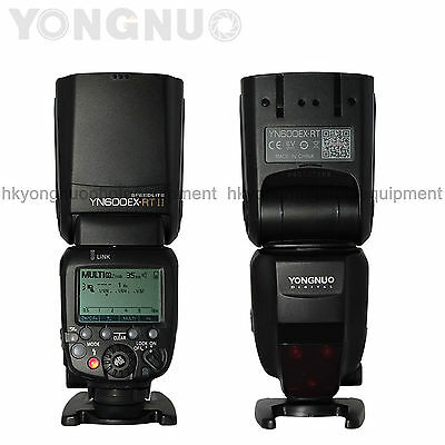 Yongnuo YN600EX-RT II Wireless Flash Speedlite Optical Master TTL HSS for Canon