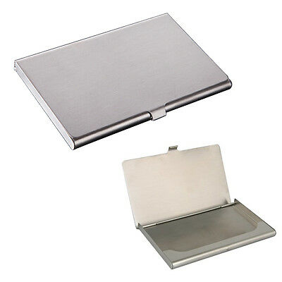 Metal Business Card Holder Credit Coins Shut Pocket Wallet ID Card Storage Case