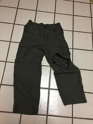 BSA BOY SCOUTS OF AMERICA UNIFORM SWITCHBACK convert pants shorts youth LG green
