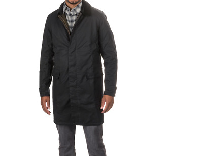 Barbour Nairn Men's Waxed-Cotton Insulated  Jacket - Navy, Size Medium
