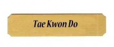 Tae Kwon Do name plate. Dutch Touch Creations. Shipping is Free