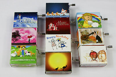 10 Songs Music Box Craft Toy Gifts Hand Cranked