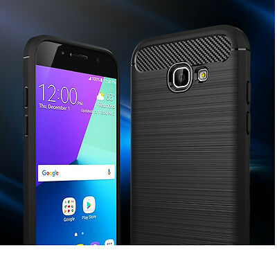Luxury Full Protection Carbon Fiber Brushed Soft Silicone TPU Cases Back Covers