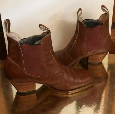 Vintage Roamers Tan Brown Leather Chelsea Style Boots - PRONTO for 10% Off