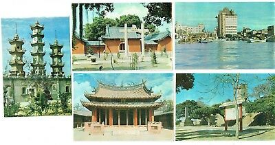 Postcards Canal Of Tainan Etc Taiwan / China Vintage 1960-70