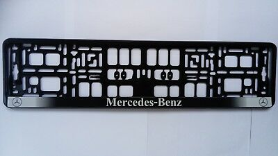 2 x Mercedes-Benz Number Plate Surrounds Holder Frame New For Cars