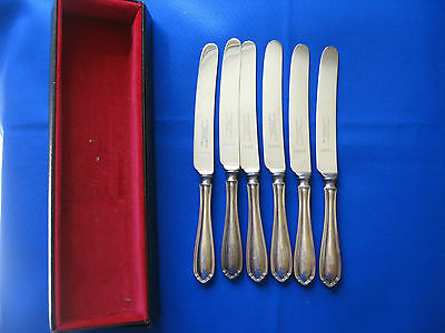 Set of Six Vintage Angus & Coote Sydney Sheffield Fruit Cheese Knives