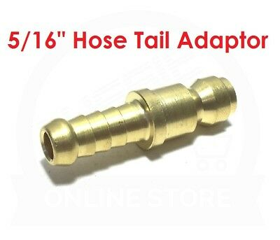 """QUALITY 5/16"""" Hose Tail Brass Adaptor 19.0876 Jamec Pem Airline Fitting Coupling"""