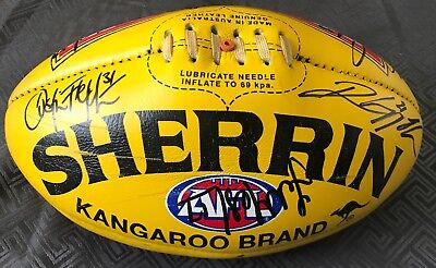 2011 ESSENDON Team Signed Yellow Game Day Sherrin Football