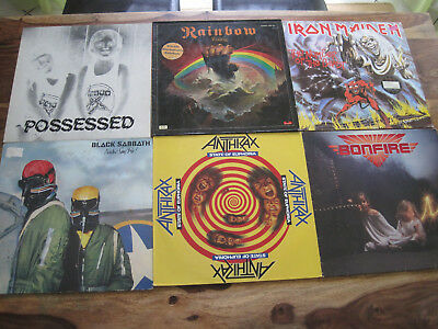 60 Lp Heavy Metal Hardrock Iron Maiden Krokus Scorpions Journey Venom Anthrax