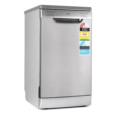 Freestanding Dishwasher Stainless Steel 9 place settings 45cm Slimline Machine