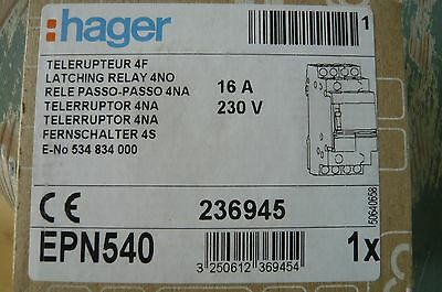 Hager EPN540 Latching relay 4p