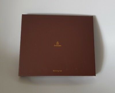 2 x New Emirates First Class Writing Kit - with envelope, pen, writing board