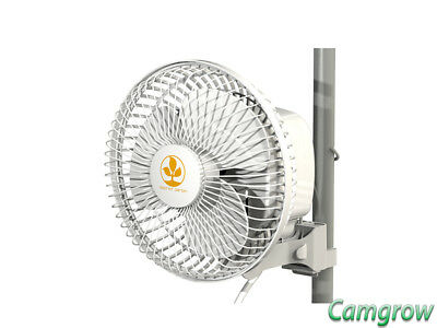 Secret Jardin Monkey Fan - 19cm -16W Pole Mounted Fan for Grow Tents Hydroponics