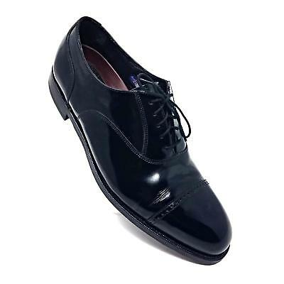 Florsheim Lexington Cap Toe Leather Oxford Shiny Black Dress Shoes