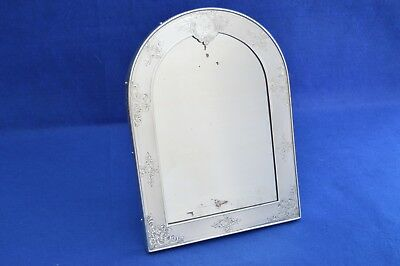 Antique French Solid Silver Dressing Table Mirror - 19th Century - Minerve -