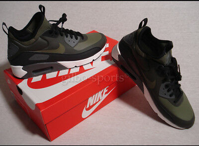 new product 9b176 47e86 NIKE Air Max 90 Ultra Mid inverno BLACK OLIVE Tg. 42 43 44 45 NUOVO 924458  300 Verde Oliva - tualu.org