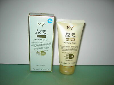 Boots No 7 75ml Protect & Perfect 'Intense' Day Hand Cream spf15