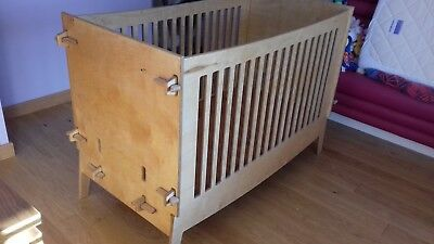 Cot Bed Wooden Toddler Baby Cot with mattress