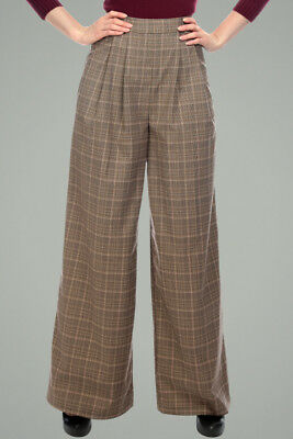 Collectif Margorie 1940s Vintage Style Swing Trousers Hepcat Size 14/ Large