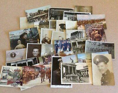 Joblot Of 35 Military Photo/Postcards