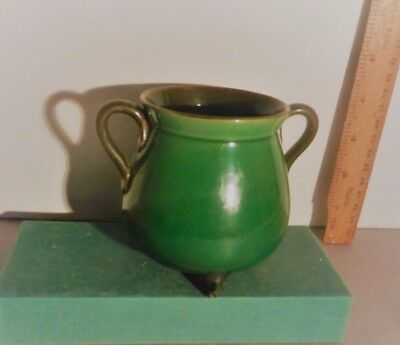 Watcombe Green Lustre Cauldron Potential as part of  a display in an Hotel, etc
