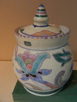 Collard era Bulbous Lidded  Bowl shape no 12 Jacobean pattern