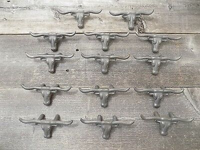 15 Cast Iron Steer Cow Bull Drawer Pulls Pull Handle Cabinet Hardware Craft