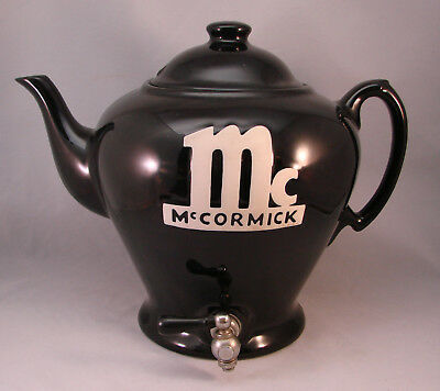 Hall, Adv. McCormick, Black Pottery, Tea Pot - Counter-top Restaurant Dispenser