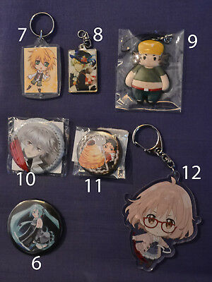 Anime Merchandise Anhänger Button Pandora Hearts Mirai Steins Gate Vocaloid
