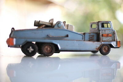 Vintage Tin Toy US Army missile truck Antique in great condition Made in Japan