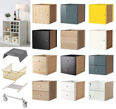 ikea kallax regal einsatz mit t r schublade 2 fach birke expedit schrank eur 12 90 picclick de. Black Bedroom Furniture Sets. Home Design Ideas