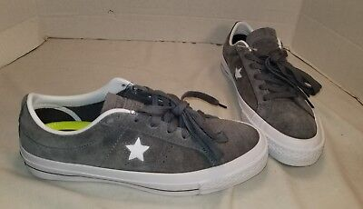 NEW CONVERSE ONE Star Grey Ox Suede Lo Top Sneakers Size Men's 6.5 Women's 8