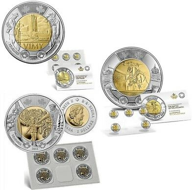 BATTLE OF VIMY RIDGE COIN PACK with WAIT FOR ME DADDY & BATTLE OF THE ATLANTIC