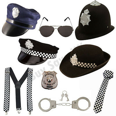 Police Wpc Policeman Fancy Dress Costume Accessories Mens Ladies Hen Stag Night