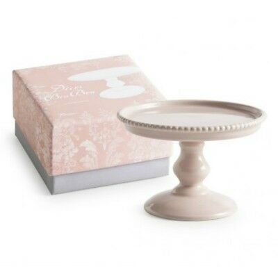 Rosanna Small Beaded Pink Porcelain Pedestal Cup Cake Stand