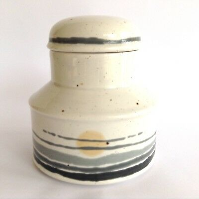 Retro MIDWINTER 1970s Stonehenge NIGHT Vintage Abstract Stoneware Jar with Lid